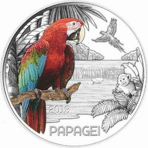 Светящийся попугай, полная серия евробанкнот к ЧМ-2018, пасхальный кролик и другие монеты – изображение 7