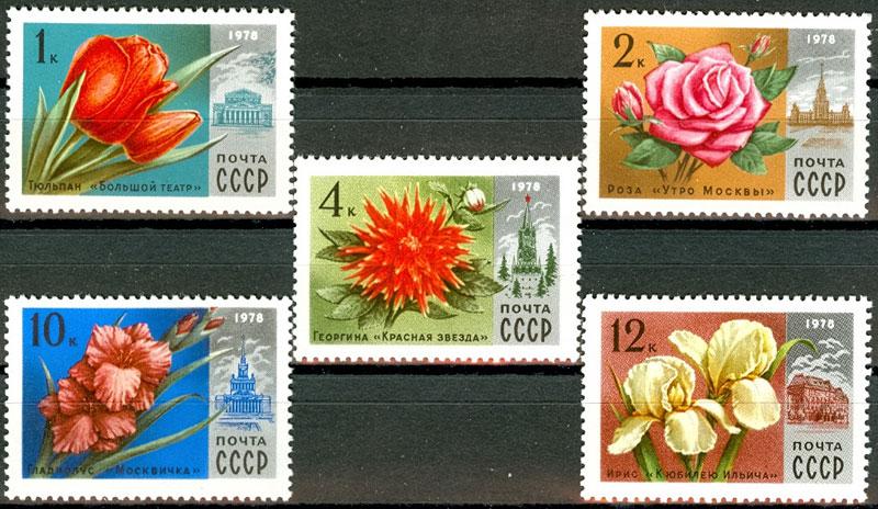 Фото почтовых марок с цветами