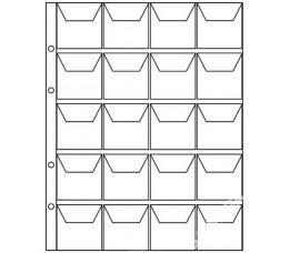 Анонс-изображение товара комплект листов для монет 192*220 мм карман на 20 ячеек формат nymis (10шт)клм 20к-n 1922020